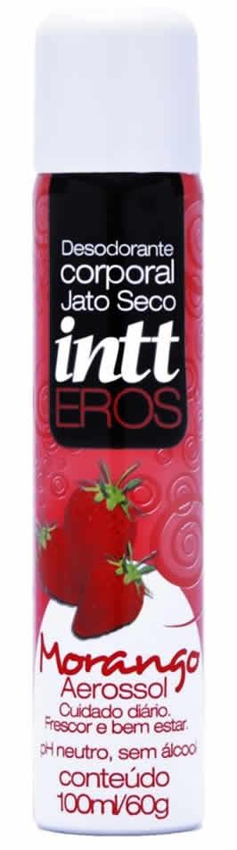Desodorante Íntimo Aerossol Eros Ylang Ylang Morango 100 ml - Intt