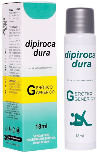 Dipiroca Dura - Excitante Masculino Dipiroca Dura 18ml  - Aumento da Espessura e Retardante - Secret Love