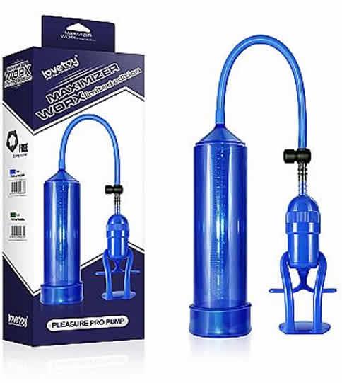 Bomba Manual Peniana - Maximizer Worx - Azul - Lovetoy