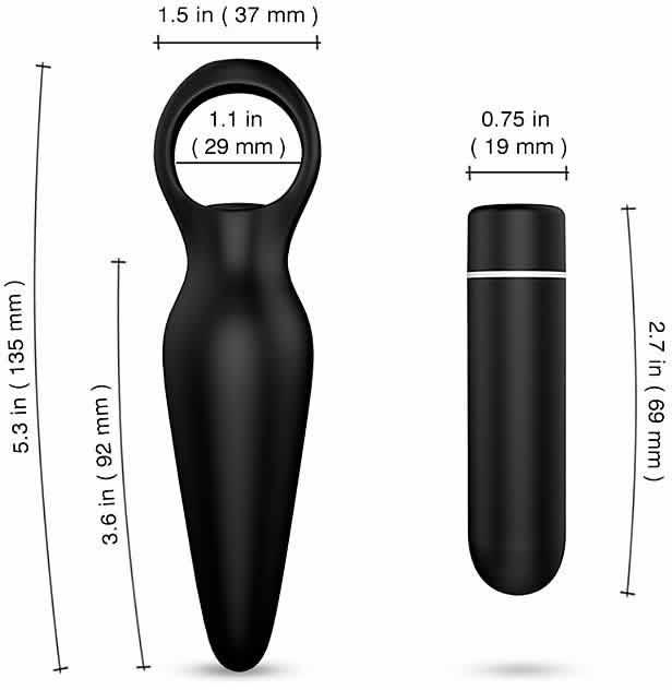 Plug Anal e Estimulador de Clitóris Com Vibração - Dada - S-Hande