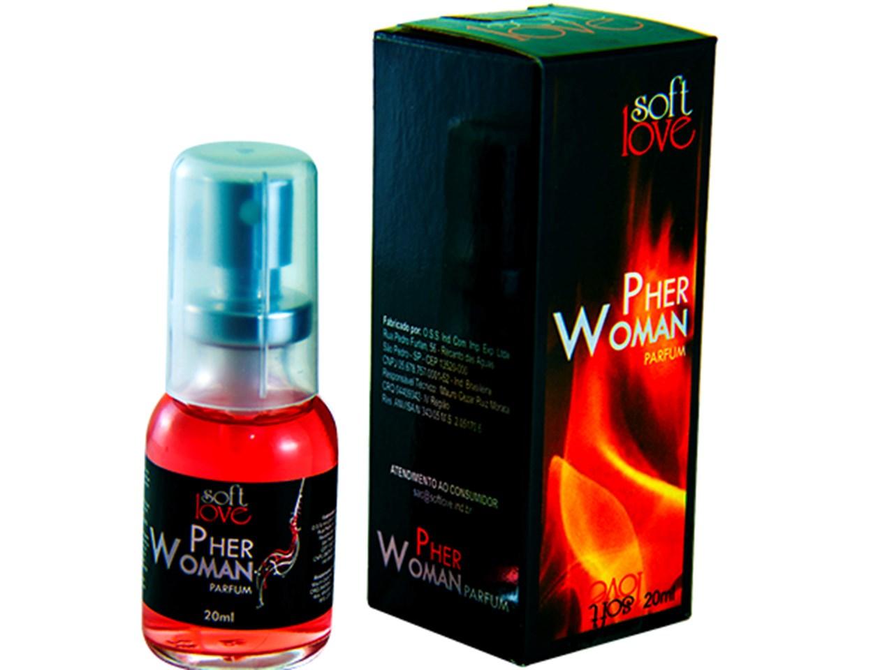 Perfume Afrodisíaco Pher Woman Feminino 20 ml  - Soft Love