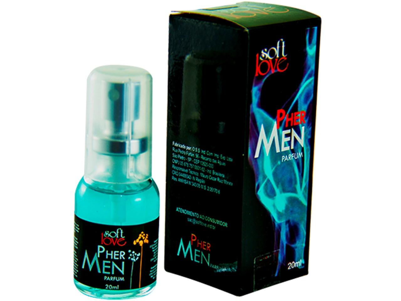 Perfume Afrodisíaco Pher Men Masculino 20 ml  - Soft Love