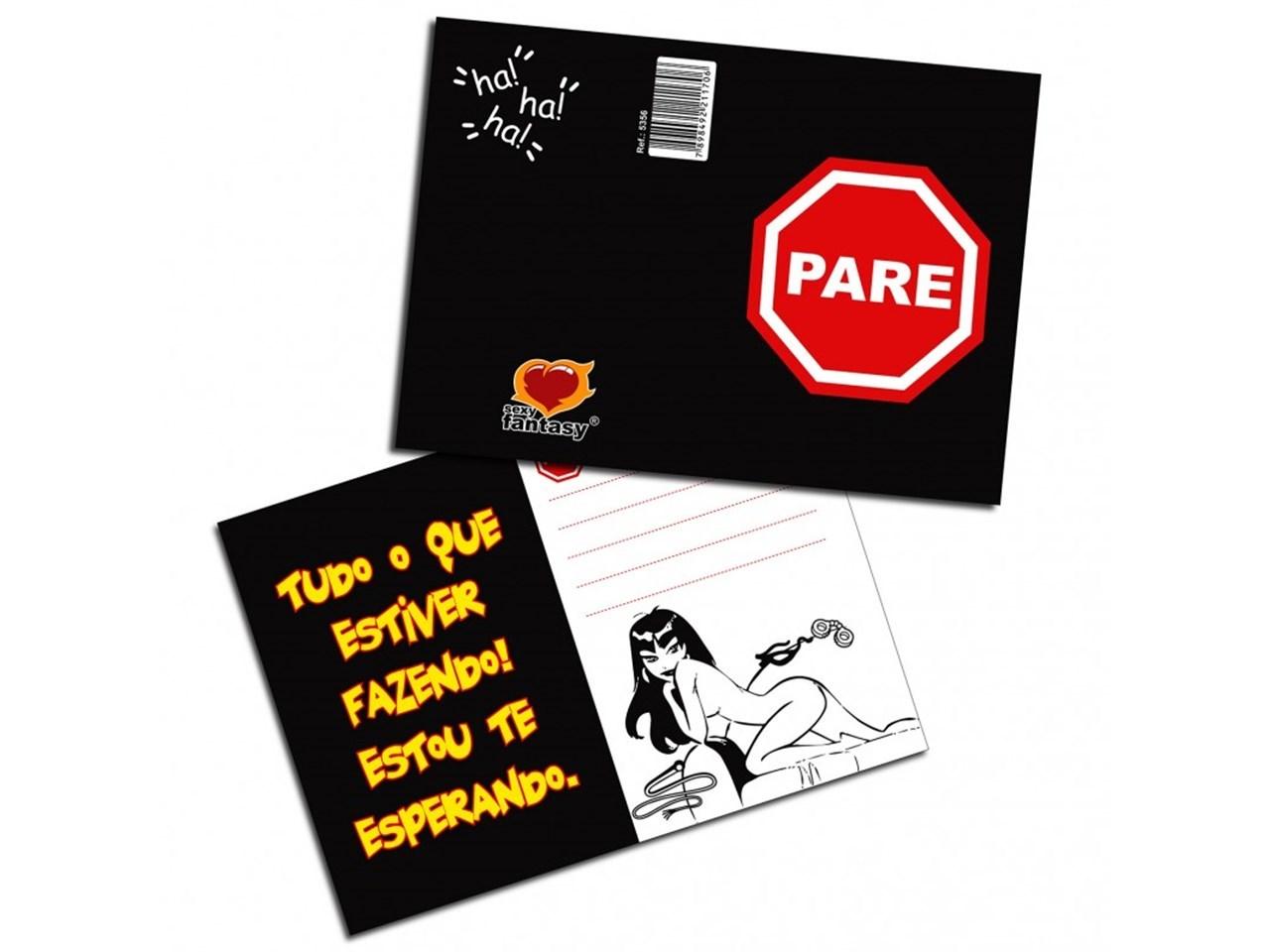 Cartão Pare - Sexy Fantasy